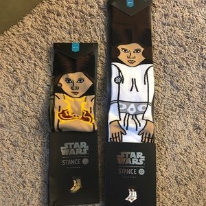 NWT Stance Star Wars Princess Leia Socks YL & L